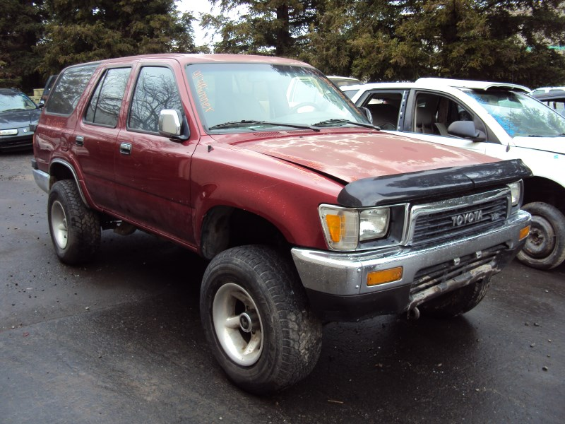 1991 TOYOTA 4RUNNER SR5 MODEL 3.0L V6 MT 4X4 COLOR RED ...