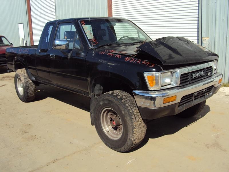 1991 toyota pick up xtra cab deluxe model 3 0l v6 at 4x4 color black stk z13393 rancho toyota. Black Bedroom Furniture Sets. Home Design Ideas