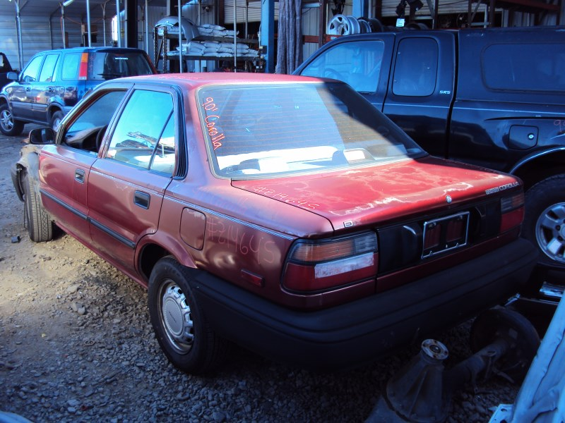 1990 Toyota Corolla 4 Door Sedan Dlx Model 1 6l At Fwd Color Red Z14645 Rancho Toyota Recycling