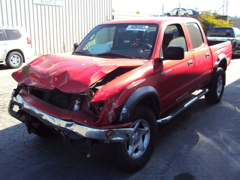 2004 toyota tacoma double cab 4 door pre runner 3 4l v6 at 2wd color red z13424 rancho toyota. Black Bedroom Furniture Sets. Home Design Ideas