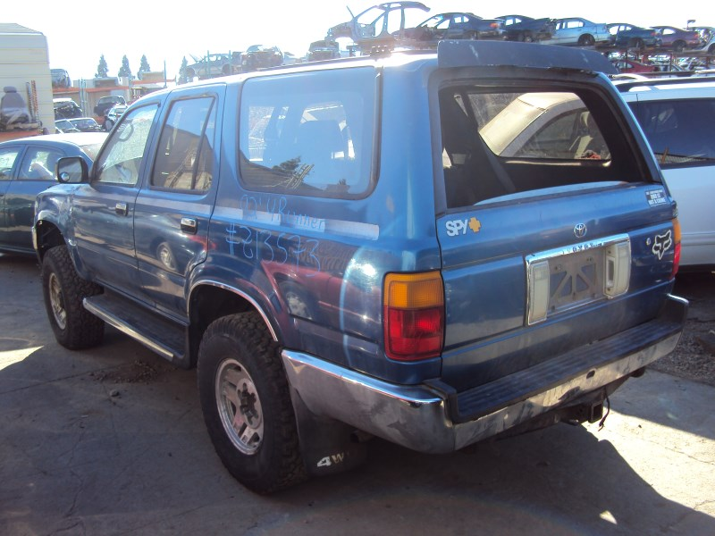 1992 toyota 4runner sr5 model 3 0l v6 mt 4x4 color blue. Black Bedroom Furniture Sets. Home Design Ideas