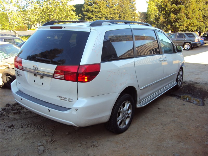 2004 toyota sienna xle limited 3 3l auto awd color white stk z15903 rancho toyota recycling. Black Bedroom Furniture Sets. Home Design Ideas