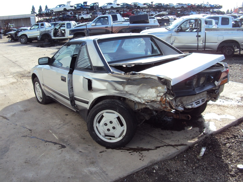 1985 toyota mr2 2 door coupe 1 6l dohc mt rwd color silver stk z12345 rancho toyota recycling