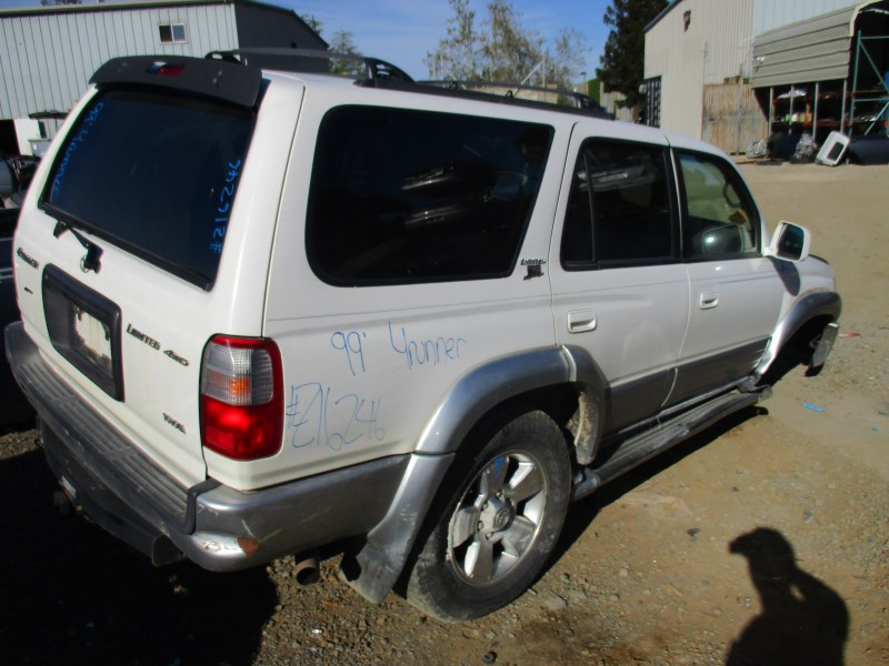 1999 TOYOTA 4RUNNER LIMITED WHITE 3.4L AT 4WD Z16246 ...