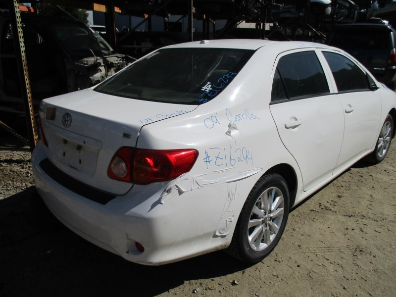 2009 TOYOTA COROLLA LE WHITE 18L AT Z16294  RANCHO TOYOTA RECYCLING