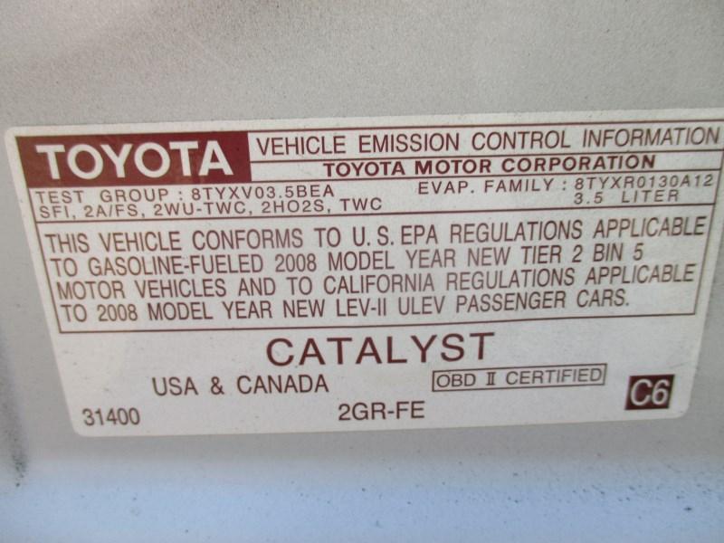 2008 Toyota Camry Se White 3 5l At Z17633