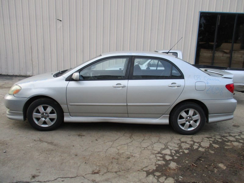 2003 TOYOTA COROLLA S SILVER 18L AT Z16158  RANCHO TOYOTA RECYCLING