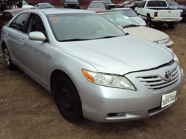 2007 TOYOTA CAMRY 4CYL, AUTOMATIC, COLOR SILVER