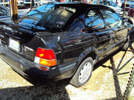 1997 TOYOTA TERCEL BLACK HAWK, 4CYL, 3 SPEED AUTOMATIC TRANSMISSION, STK # Z10083