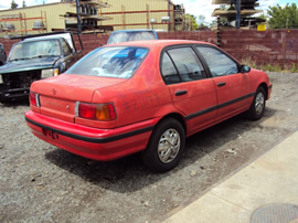 1994 Toyota Tercel DX model 4 door ,1.5L Engine, Automatic 3spd,Color Red, STK# Z11177