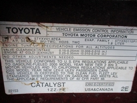 2005 TOYOTA COROLLA S RED 1.8L AT Z16199