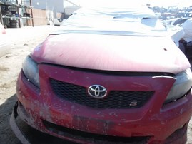2009 TOYOTA COROLLA S RED 1.8L AT Z18055