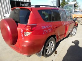 2008 TOYOTA RAV4 LIMITED RED 2.4 AT 2WD Z21347