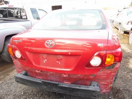 2010 TOYOTA COROLLA LE RED 1.8L AT Z18090