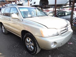 2003 TOYOTA HIGHLANDER BEIGE 2.4L AT 2WD Z17977