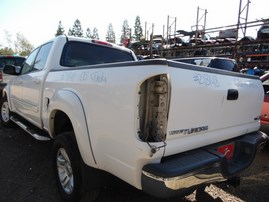 2005 TOYOTA TUNDRA SR5 WHITE DOUBLE CAB 4.7L AT 2WD Z18148