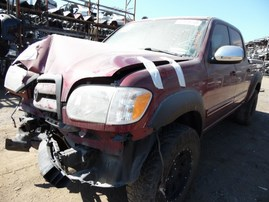 2006 TOYOTA TUNDRA SR5 BURGUNDY DOUBLE 4.7L AT 2WD Z18154