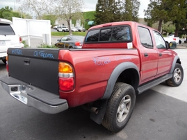 2001 TOYOTA TACOMA SR5 PRERUNNER BURGUNDY DOUBLE CAB 3.4L AT 2WD Z17682