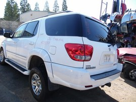 2006 TOYOTA SEQUOIA SR5 WHITE 4.7L AT 4WD Z18189