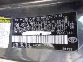 2007 TOYOTA CAMRY LE GRAY 2.4 AT Z20217