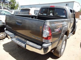 2009 TOYOTA TACOMA CREW CAB SR5 GRAY 4.0 AT 4WD TRD OFF ROAD PKG Z20038