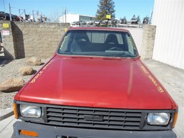 1986 TOYOTA PICK UP RED 2.4 MT 4WD Z20052