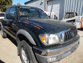 2001 TOYOTA TACOMA PRERUNNER GREEN XTRA CAB 3.4L AT 2WD Z18368