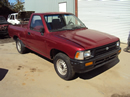 1992 TOYOTA PICK UP REGULAR CAB STANDARD MODEL 2.4L EFI MT 2WD COLOR RED STK Z13394