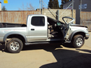 2001 TOYOTA TACOMA SR5 DLX MODEL 4 DOOR DOUBLE CAB 3.4L V6 AT 4X4 COLOR SILVER STK Z13395