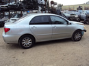 2003 TOYOTA COROLLA 4 DOOR SEDAN LE MODEL 1.8L AT FWD COLOR SILVER STK Z13404