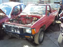 1985 TOYOTA PICK UP TRUCK REGULAR CAB STANDARD MODEL 2.4L CARBURETOR MT 4 SPEED 2WD COLOR RED Z14634