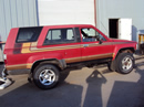 1986 TOYOTA 4 RUNNER 2 DOOR DELUXE MODEL 2.4L EFI AT 4X4 WITH MANUAL LOCKING HUBS COLOR RED STK Z13411