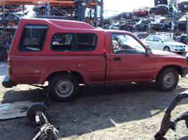 1994 TOYOTA PICK UP TRUCK  STD MODEL REGULAR CAB 2.4L EFI MT 2WD COLOR RED Z14681
