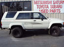 1989 TOYOTA 4RUNNER 2 DOOR SR5 MODEL 3.0L V6 MT 4X4 COLOR WHITE Z13530