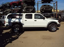 2001 TOYOTA TACOMA DOUBLE CAB LX SR5 MODEL WITH TRD PACKAGE 3.4L V6 AT 4X4 W ELECTRIC LOCKER COLOR WHITE Z14761