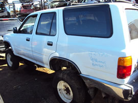 1990 TOYOTA 4RUNNER SR5 MODEL 3.0L V6 AT 4X4 COLOR WHITE Z14750