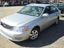 2001 TOYOTA AVALON ENGINE: V6 AUTOMATIC, AIR, FULLY LOADED, COLOR: SILVER STK:Z09028