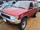 1994 TOYOTA 4 RUNNER , V6 , AUTOMATIC TRANSMISSION, COLOR - RED , STK # T10285