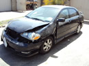 2005 TOYOTA COROLLA S MODEL COLOR-BLACK STK# Z10088