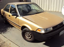 1990 TOYOTA COROLLA 4CYL, AUTOMATIC TRANSMISSION, COLOR GOLD, STK # Z10131