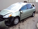 2000 TOYOTA SIENNA V6, AUTOMATIC TRANSMISSION, XLE LEATHER, COLOR- GOLD STK # Z10096
