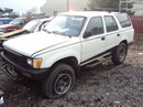 1990 TOYOTA 4RUNNER 2.4L AT 2WD FUEL INJECTION COLOR WHITE STK # Z11213