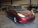 2007 TOYOTA SIENNA VAN XLE MODEL 5 POWER DOORS,3.5L V6 AT FWD COLOR RED STK Z12308