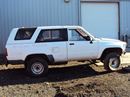 1986 TOYOTA 4RUNNER SR5 2 DOOR 2.4L TURBO EFI AT 4X4 COLOR WHITE STK Z12330