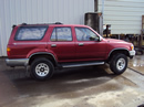 1995 TOYOTA 4RUNNER SUV SR5 MODEL 3.0L V6 MT 4X4 COLOR RED STK #Z12357