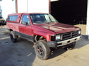1988 TOYOTA TRUCK DELUXE MODEL REGULAR CAB LONG BED 3.0L V6 AT 4X4 COLOR RED STK Z13371
