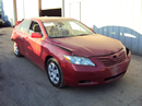 2007 TOYOTA CAMRY 4 DOOR SEDAN LE MODEL 2.4L AT 2WD COLOR RED STK Z13379