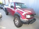 2004 TOYOTA TACOMA DBLCAB, 2.7L AUTO 2WD, COLOR RED, STK Z15920